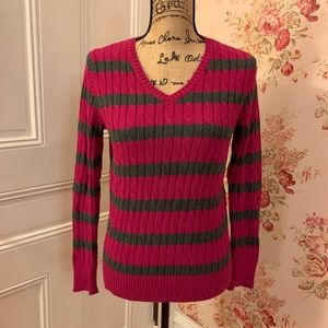 St. John's Bay Pink Striped Sweater
